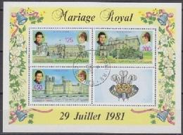 Republique Des Comores 1981 Royal Wedding M/s Used Cto (19890) - Comoren (1975-...)