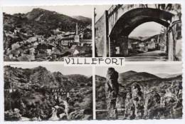 VILLEFORT (48) - CPSM (FORMAT CPA) - MULTI VUE - Villefort