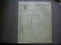 MARQUETTE LEZ LILLE LESAFFRE & BONDUELLE ALCOOL DE L´ABBAYE FACTURE DU 30 MARS 1898 - Fatture