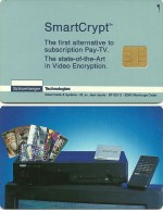 CARTE A PUCE TEST DEMO GSM AUTRE SCHLUMBERGER TECHNOLOGIES SMART CRYPT - Exhibition Cards