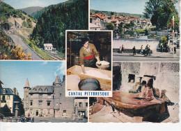 """CANTAL PITTORESQUE Aurillac, Le Lioran, La """"Maie"""" à Fromage, Salers, Chaudes Aigues, Ed. Théojac - Auvergne"""