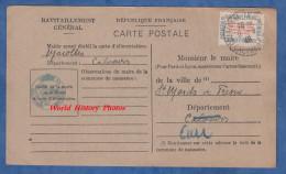 CPA De Ravitaillement De 1946 - MAROLLES - Hélène DESPORTES , Journaliere Née à Saint Mards De Fresne - France