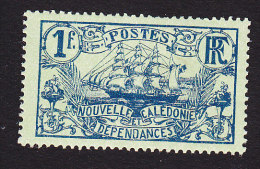 New Caledonia, Scott #113, Mint Hinged, Ship, Issued 1905 - Neufs