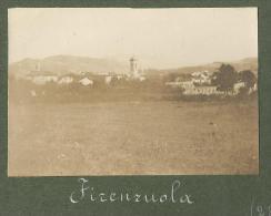 Firenzuola, Firenze, 28.8.1910, Panorama, Fotografia Originale D'epoca Cm. 8 X 5,5. - Luoghi