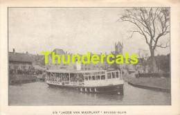 CPA S S JACOB VAN MAERLANT BRUGGE SLUIS - Ferries