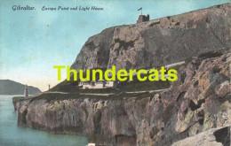 CPA GIBRALTAR EUROPA POINT AND LIGHT HOUSE - Gibraltar