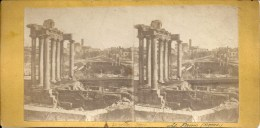 Photo Stéréo - ITALIE - ROME :Le  Forum - Stereoscopic