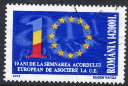 ROMANIA 2003 10th Anniversary Of Association With EU Used.  Michel 5711 - 1948-.... Republics