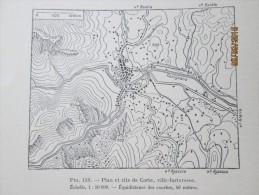 Plan De  La Ville De Corte  En Corse    1940 - Maps