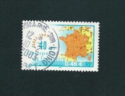 N° 3543 40 Ans D´aménagement Du Territoire  Franc Oblitéré Rond 2003 - France