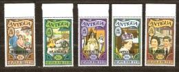 Antigua & Barbuda 1977 Yvertn° 308-12 *** MNH Cote 13,50 Euro Surchargés Barbuda - Antigua & Barbuda (...-1981)