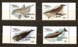 Antigua & Barbuda 1983 Yvertn° 626-29 *** MNH Cote 31,00 Euro Faune Poissons Vissen Surchargés Barbuda Mail - Antigua Et Barbuda (1981-...)
