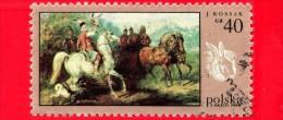 POLONIA - POLSKA - Usato - 1968 - Dipinti Di Caccia - Caccia Con Il Falco, Da Juliusz Kossak - 40 - Gebruikt