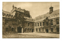 Oxford, Sincoln College, (Founded A.D. 1427) - Oxford