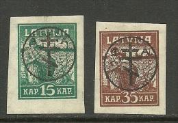 LETTLAND Latvia Russia 1919 Michel 21 - 22 Westarmee * - Lettland