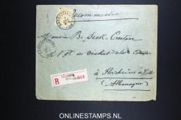 Belgium: Registered Cover 1896  OBP 50  Gand / Gent To Florsheim Germany