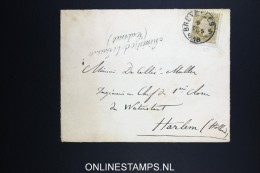 Belgium: Cover 1873 ?  OBP 32 Brussels To Haarlem Holland, Ministère De La Justice - Cabinet Cancel - 1869-1883 Léopold II