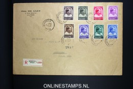 Belgium: Large Cover 1936 Registered Antwerp To Rotterdam, OBP 438 - 445