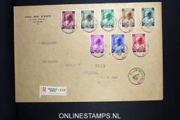 Belgium: Large Cover 1937 Registered Antwerp To Rotterdam, OBP 458 - 465