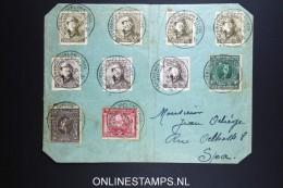 Belgium: Cover 1920  Conference Diplomatique Spa Cancels OBP 179 - 181 + 165 + 166 RR