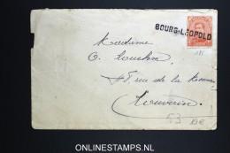 Belgium: Cover Bourg-Leopold Cancel On OBP Nr 53 Orange Instead Of Karmin - 1915-1920 Albert I