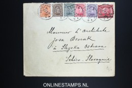 Belgium: Cover1921 Mixed Stamps - 1915-1920 Albert I