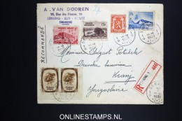 Belgium: Registered Cover 1939 Mixed Stamps