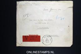 Belgium: Cover Aangegeven Waarde Valeur Declareé, 1938 Gent -> Dordrecht