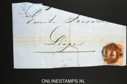 Belgium:c OBP 12 On Fragment Of Letter