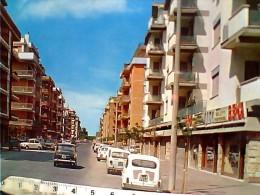 OSTIA VIALE DELLE BALENIERE ROMA LIDO AUTO CAR FIAT 500 1100 850 SALOTTI  BEKA V1968 ES14954 - Italia