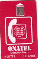 BURKINA FASO - Onatel Logo(red), Chip SC5, CN : C4C100972, Used - Burkina Faso