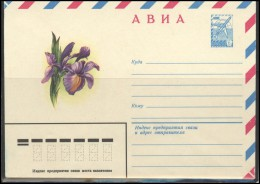 RUSSIA USSR Stamped Stationery Ganzsache 15218 1981.10.13 Air Mail Flora Plants Flowers - 1980-91