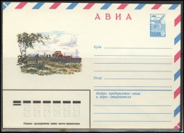 RUSSIA USSR Stamped Stationery Ganzsache 15221 1981.10.13 Air Mail Agriculture Farming Tractor Bicycle - 1980-91