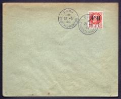RARE LETTRE DE LA RÉSISTANCE- PONS N° 9 (17)- SURCHARGE RENVERSEÉ SUR TIMBRE PETAIN 3 F ORANGE- - Storia Postale