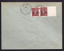 RARE LETTRE DE LA RÉSISTANCE- PONS  N° 5 (17)- PAIRE PETAIN 1 FR 20  SURCHARGE INVERSÉE + PANNEAU INTERCALAIRE- - Poststempel (Briefe)