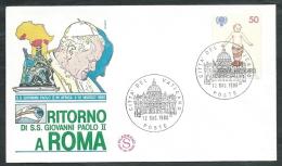 1980 VATICANO VIAGGI DEL PAPA RITORNO A ROMA DALL'AFRICA - EV - FDC