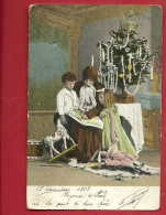 BVX-01  Noël En Famille, Avec Santa Claus, Nicolas, Père Noël, Cheval De Vois, Arbre De Noël. Précurseur. Cachet 1903 - Santa Claus
