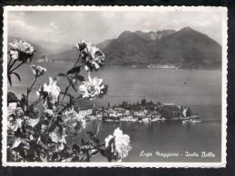 P383 ISOLA BELLA  ( Verbania, Pallanza )  Con Fiori, Fleurs, Flower - Nice Stamp, Timbro Filatelico Pubblicità Progresso - Italië