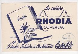 Buvard RHODIA COVERLAC Cahiers La Maison De Dessin LEMONNIER Rouen Dessin Jacquet - Papeterie