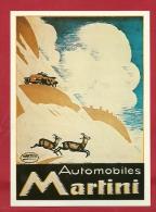 BFO-12  Litho Automobiles Martini. Chamois. Emile Cardinaux.Collection Affiches Musée Suisse Des Transports. Non Circulé - Voitures De Tourisme
