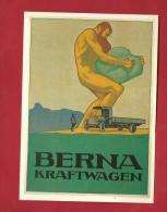 BFO-13 Litho Berna Kraftwagen. Goliath. Emile Cardinaux.Collection Affiches Musée Suisse Des Transports. Non Circulé - Trucks, Vans &  Lorries