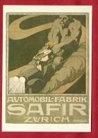 BFO-14 Litho Automobil-Fabrik SAFIR Zürich. Mangold 1908.Collection Affiches Musée Suisse Des Transports. Non Circulé - Passenger Cars