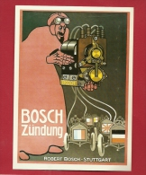 BFO-17 Litho Automobil Zündung, Batteries Bosch. Collection Affiches Musée Suisse Des Transports. Non Circulé - Cartes Postales