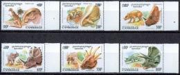 C083 FAUNA ZOOGDIEREN MAMMALS DINOSAURS PREHISTORIC ANIMALS CAMBODIA 1995 PF/MNH - Timbres