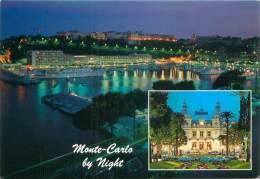 CPM - MONTE-CARLO By Night - Le Port De Nuit - Le Casino - Monte-Carlo