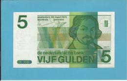 NETHERLANDS -  5 GULDEN - 28.03.1973 - Pick 95 - VONDEL - 2 Scans - [2] 1815-… : Reino De Países Bajos