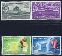 Trinidad & Tobago, Scott # 106-9 Mint Hinged Part Set Independence, 1962 - Trinidad & Tobago (1962-...)