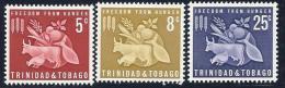 Trinidad & Tobago, Scott # 110-2 Mint Hinged Freedom From Hunger, 1963 - Trinidad & Tobago (1962-...)