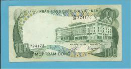 VIET NAM SOUTH - 100 DONG - ND ( 1972 ) - P 31 - Série A/25 - Palace Of Independence / Farmer 2 Water Buffalo - VIETNAM - Vietnam