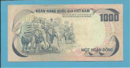 VIET NAM SOUTH - 1000 DONG - ND ( 1972 ) - P 34 - Back ROSE - Série N1 - Palace Of Independence / 3 Elephants - VIETNAM - Vietnam